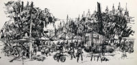 Phuket Island no 2 , 18 x 38cm, Ink and pencil on paper, 2018